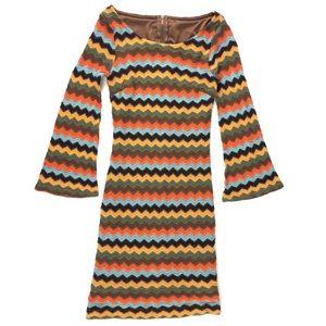 Retro Striped Mini Dress